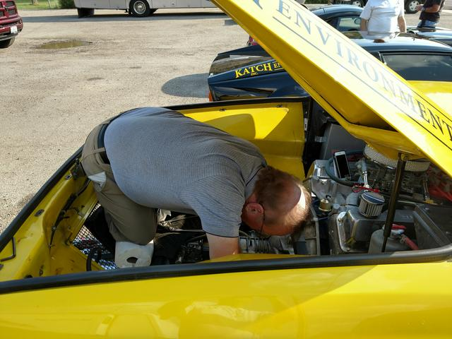 Gerry at work in his Pantera